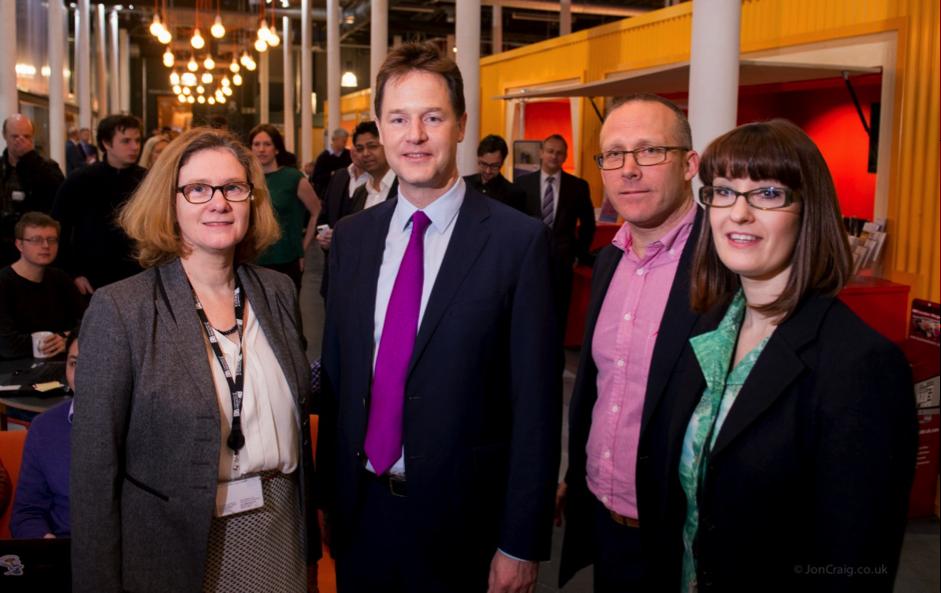 Deputy Prime Minister Nick Clegg visits the Engine Shed