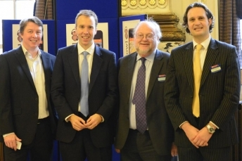 Matthew Hancock MP, Minister for Skills (second from left) at the Investment Showcase