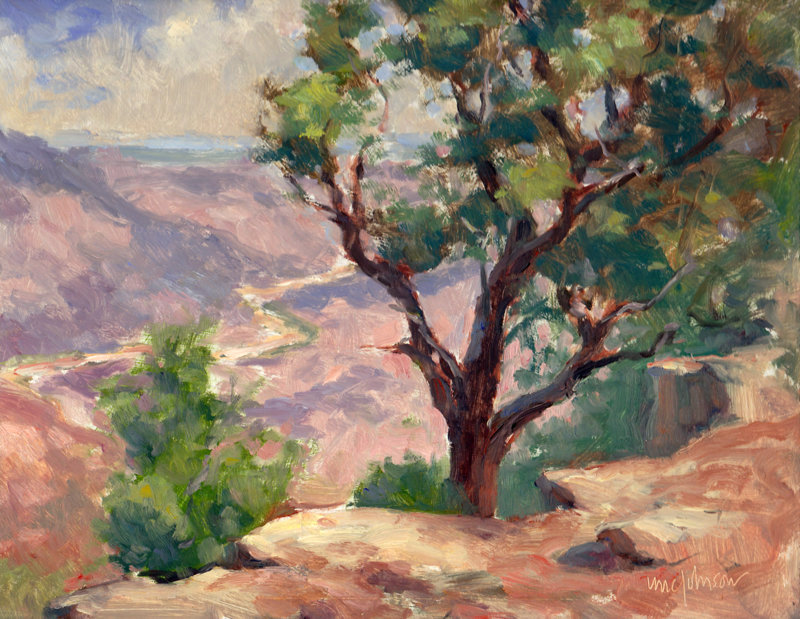 Desert View Tree by Michael Chesley Johnson
