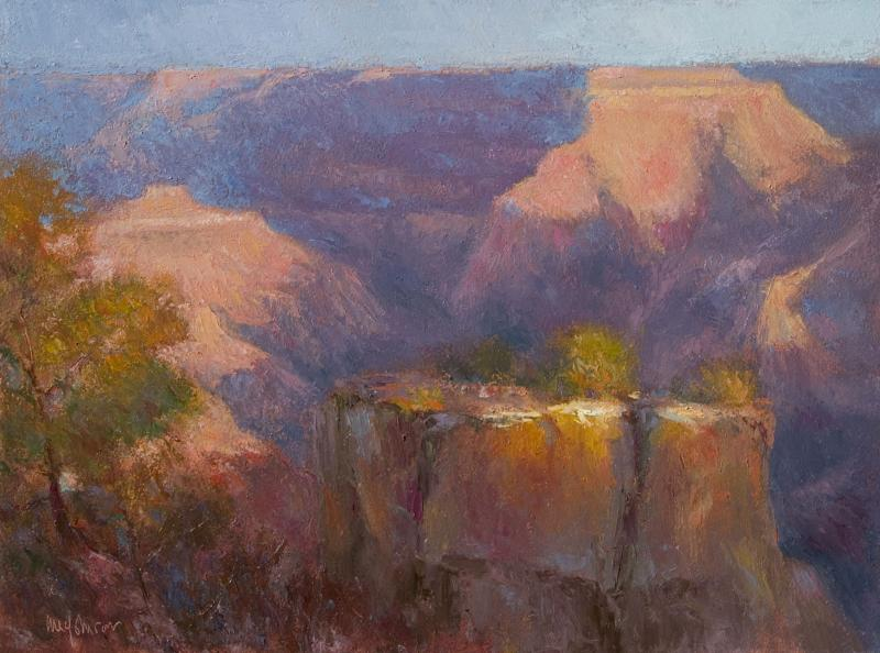 Sunset Glow oil painting Michael Chesley Johnson