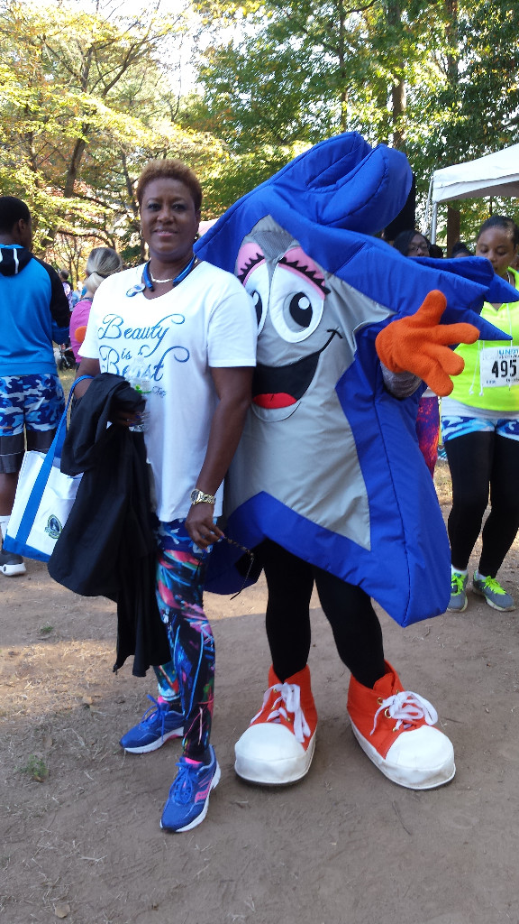 Patricia Mouzon at the Colon Cancer Alliance Undy Run