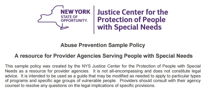 Abuse Prevention Sample Policy