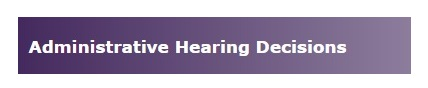 Administrative Hearing Decisions
