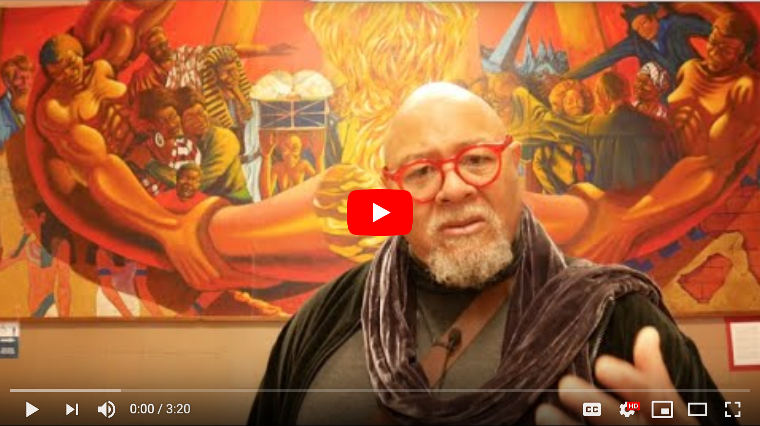 Video still from Professor Dewey Crumpler Defending GWHS Murals