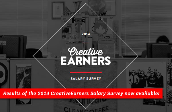 Results of the 2014 CreativeEarners Salary Survey now available!