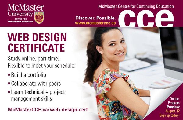 McMaster University – Web Design Certificate