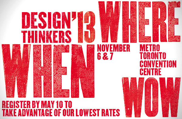 DesignThinkers 2013 Super Advanced early bird rates