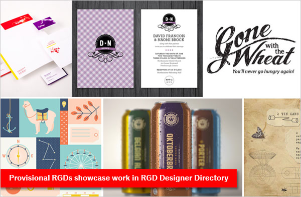 Provisional RGDs invited to showcase work in RGD Designer Directory