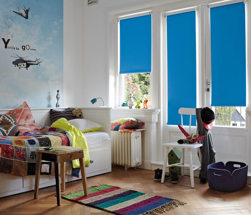 """Jugendzimmer: Das """"frische"""" Blau entsteht durch die einfallende Sonne"""