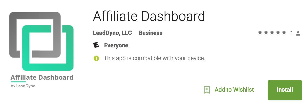 Affiliate Marketing Mobile App