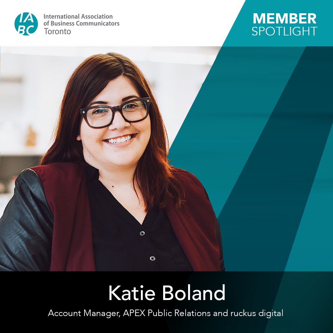 Katie Boland, Account Manager, APEX Public Relations and ruckus digital