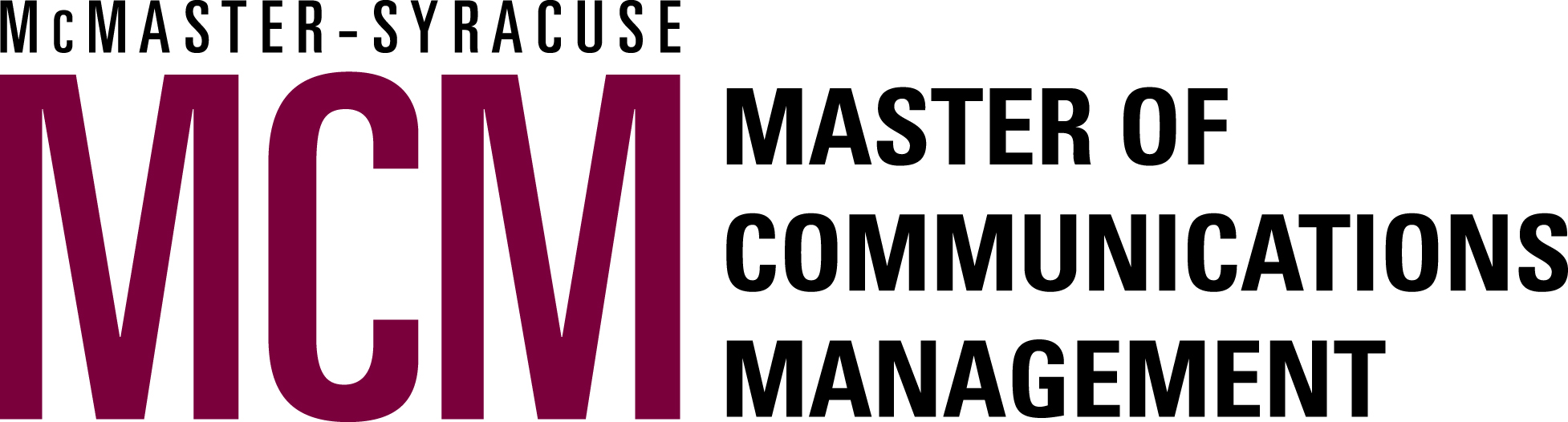 McMaster Syracuse Master of Communications Management (MCM)