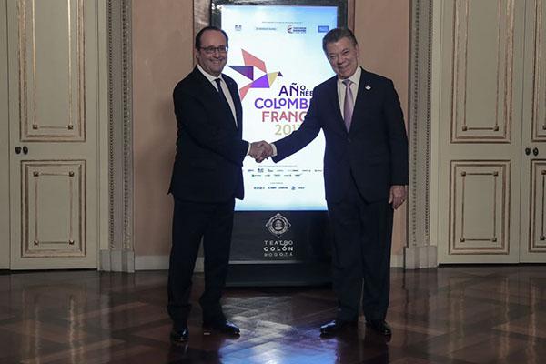Histórico encuentro entre presidentes Santos y Hollande, en el marco del Año Colombia-Francia 2017