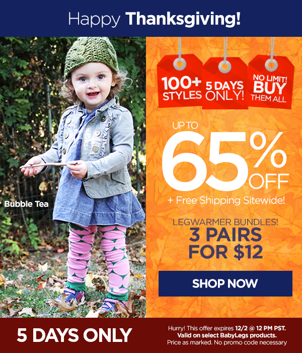 BabyLegs: 65% off + free shipping!