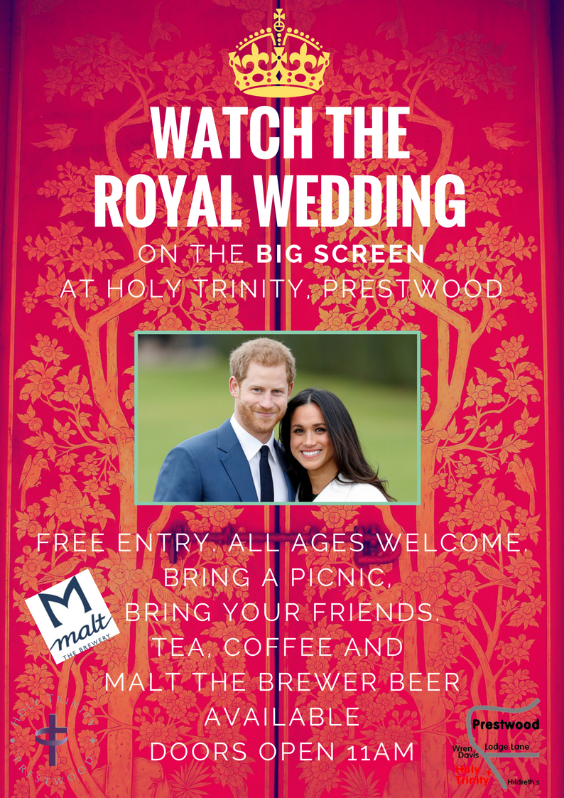 Watch the Royal Wedding on the Big Screen at Holy Trinity