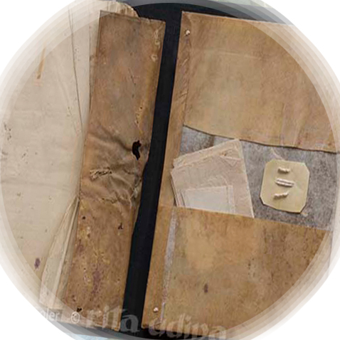 Conservation of stationery limp vellum bindings with flap