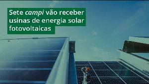 foto de paineis de captação de energia solar