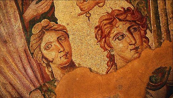 mosaic Achilles at Skyros