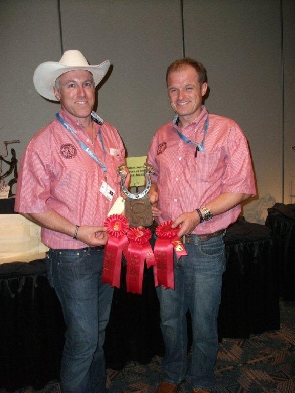 Rodney King (left) and Jonathan Nunn were winners in Creative Forging