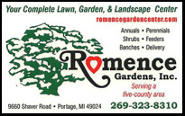 Romence Gardens in Portage, Gift Cards