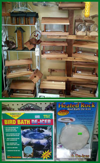 Bird Feeders and Bird Houses on sale at Romence Gardens in Portage
