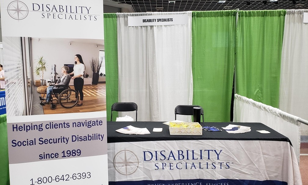 DS booth at Community Health Integration Expo in St. Cloud, MN