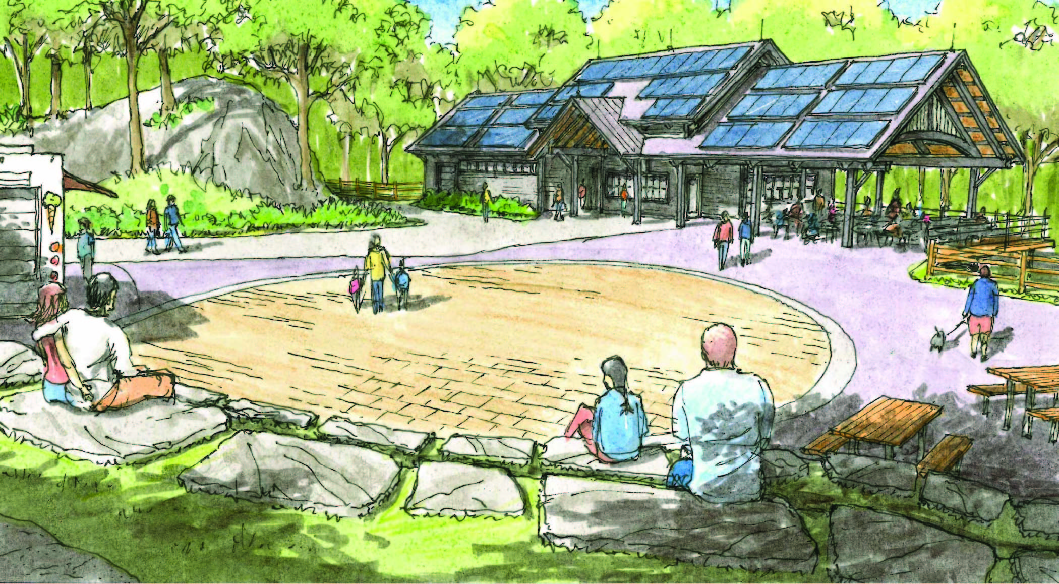 Sketch Rendering of the Ulster Welcome Center