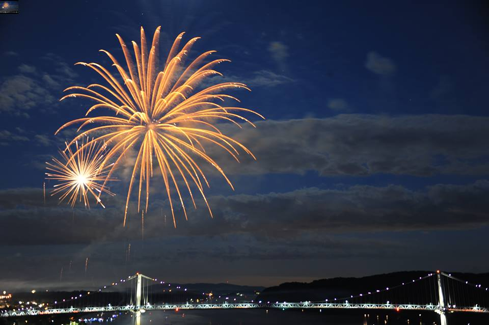 City of Poughkeepsie Fireworks by Irving Solero