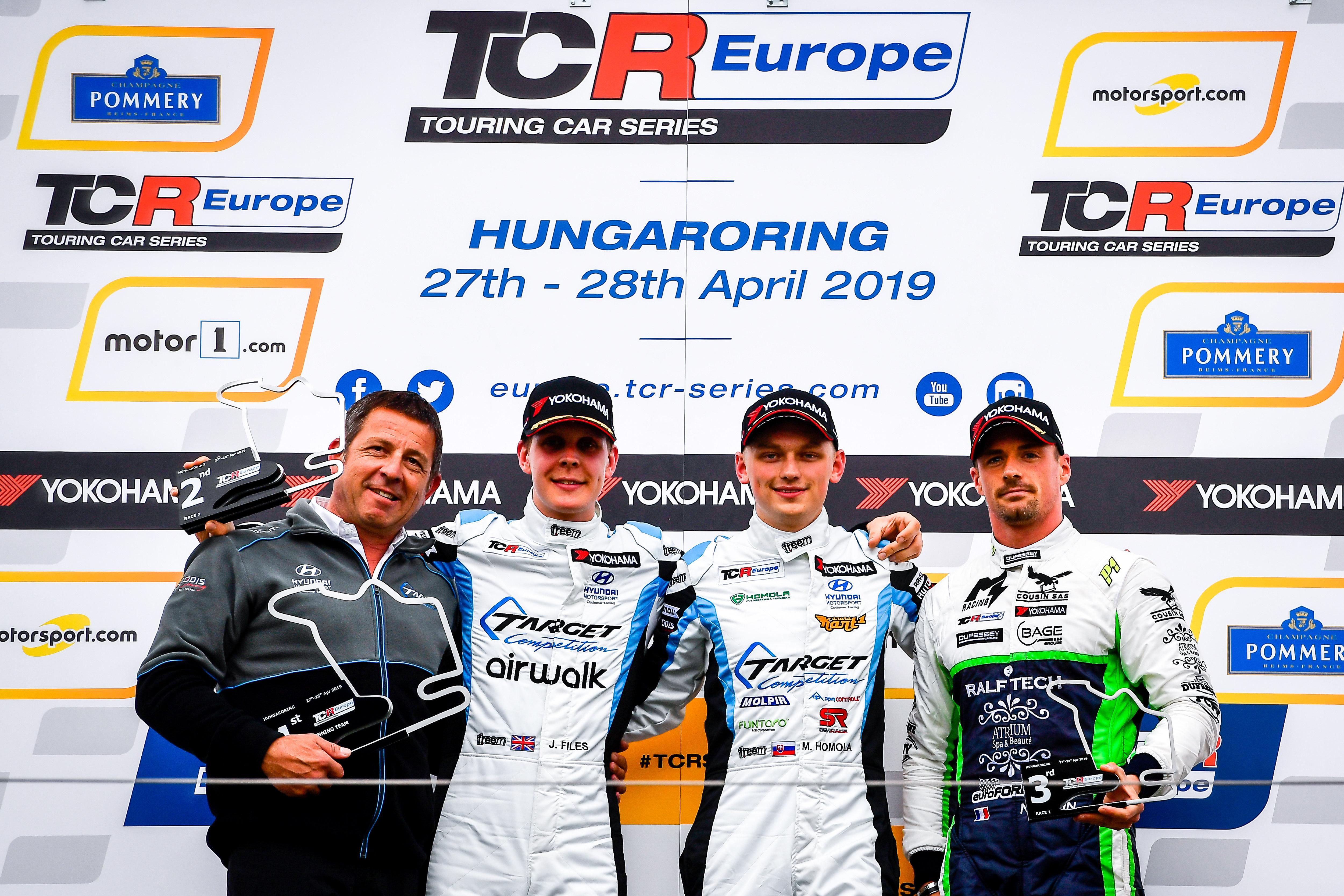 TCR Europe - Hungary Race 1 podium