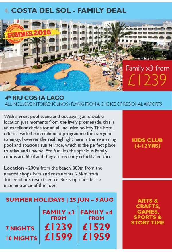 Costa Del Sol - Family Deal