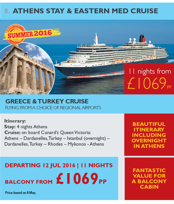 Athens Stay & Eastern Med Cruise