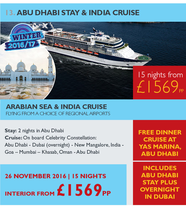 Abu Dhabi Stay & India Cruise
