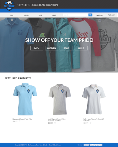 Activate your DICK'S Team Sports HQ Fan Wear store