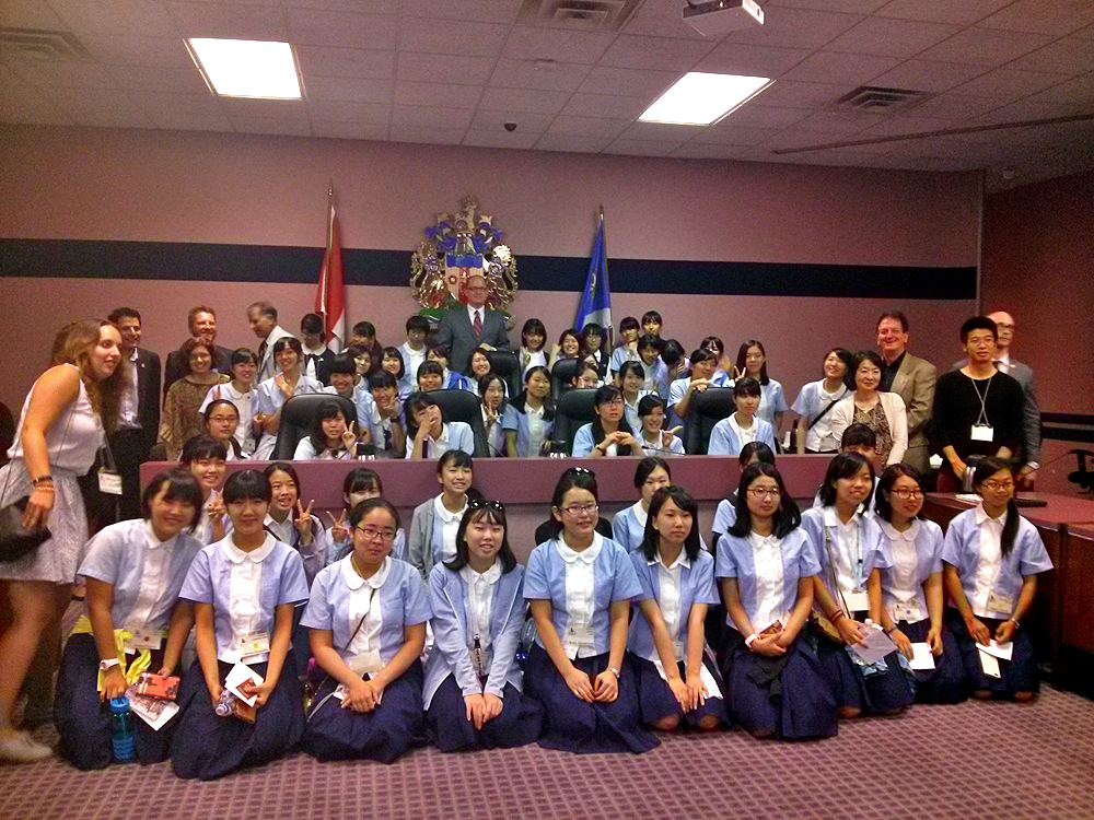 Image of Visiting Japan Students in Council Chambers