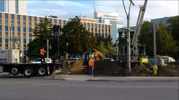 Photo of City Hall Construction
