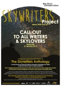 Skywriters Anthology poster 2018.