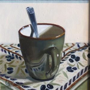 Olive Mug By Gwen Bell