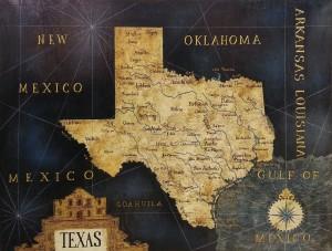 Antique Map Of Texas By Julius Lira Salazar