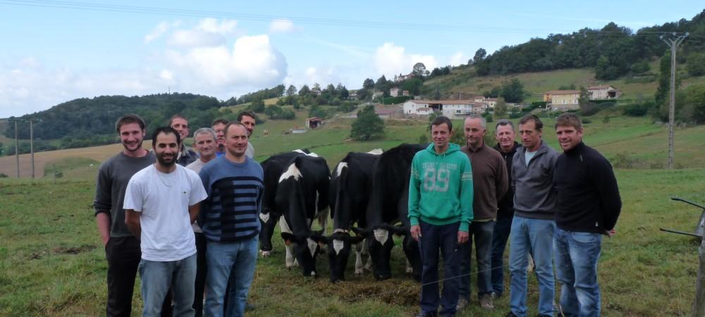 Les agriculteurs accompagnés par le Syndicat Intercommunal des Monts du Lyonnais dans le projet de méthanisation Méthamoly (c) Energie partagée