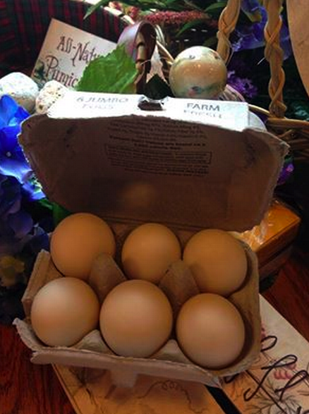 We have Duck Eggs from Liberty Hill Farm