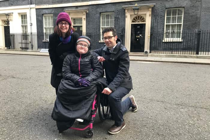 Th eWhite family outside 10 Downing Street