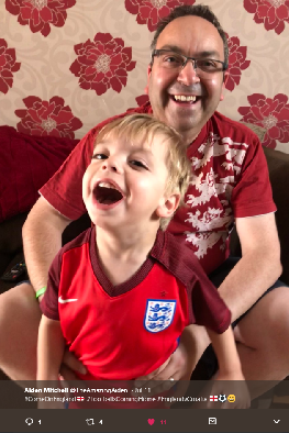 The Amazing Aiden supporting England