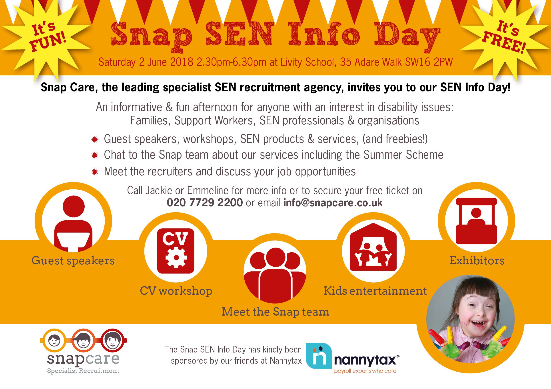 Snap SEN Info Day