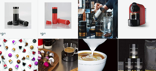 Andronicas coffee products