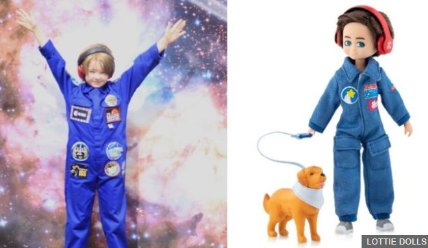 Autistic boy inspiration for astronaut doll