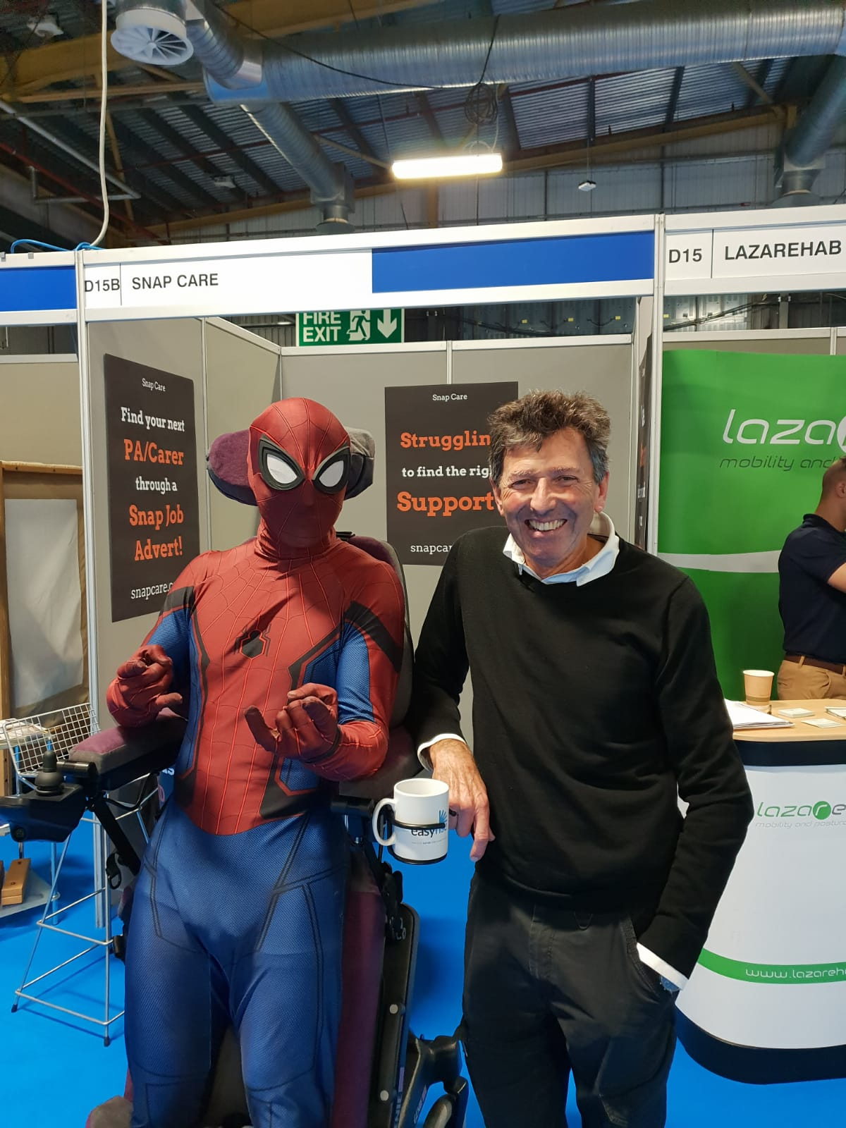 Andrew and Spiderman at Kidz to Adultz