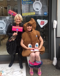 Sally Britton and Sarah Brisdion at the changing places looathon