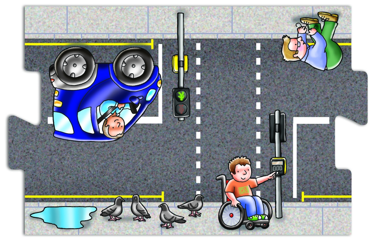Toy Like Me Giant Road Jigsaw