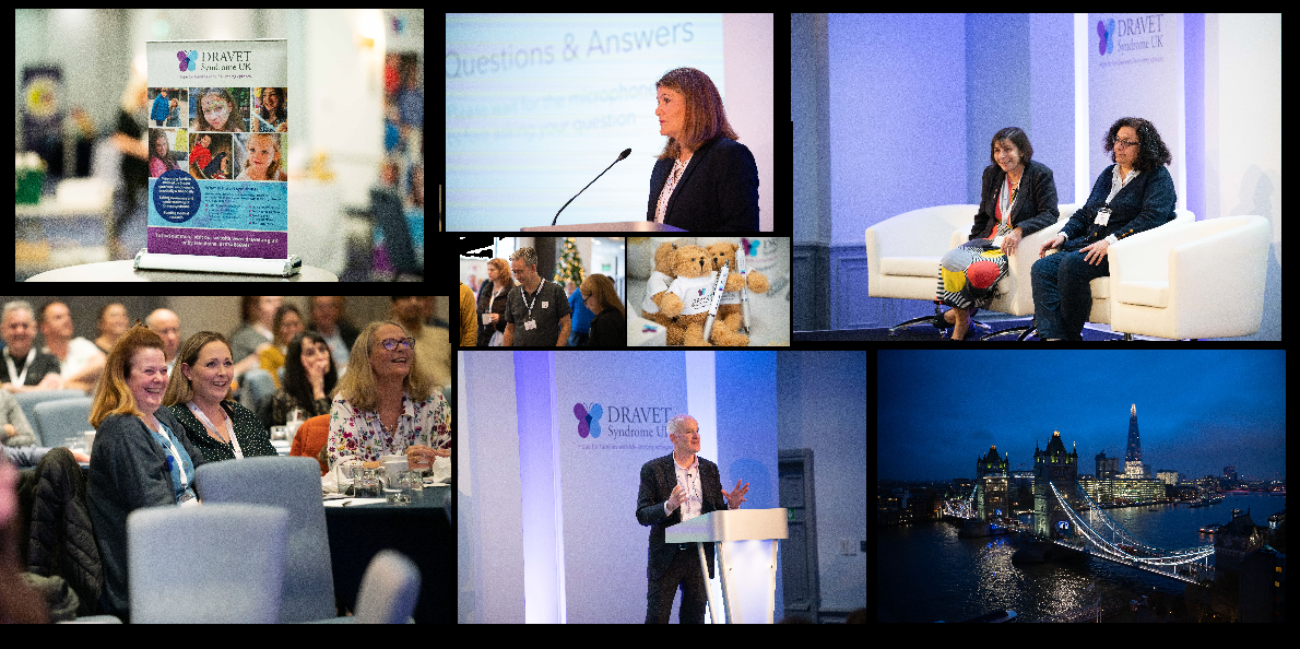 Montage of photos from Dravet syndrome conference