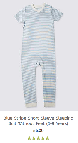 Blue Stripe Sleeping Suit